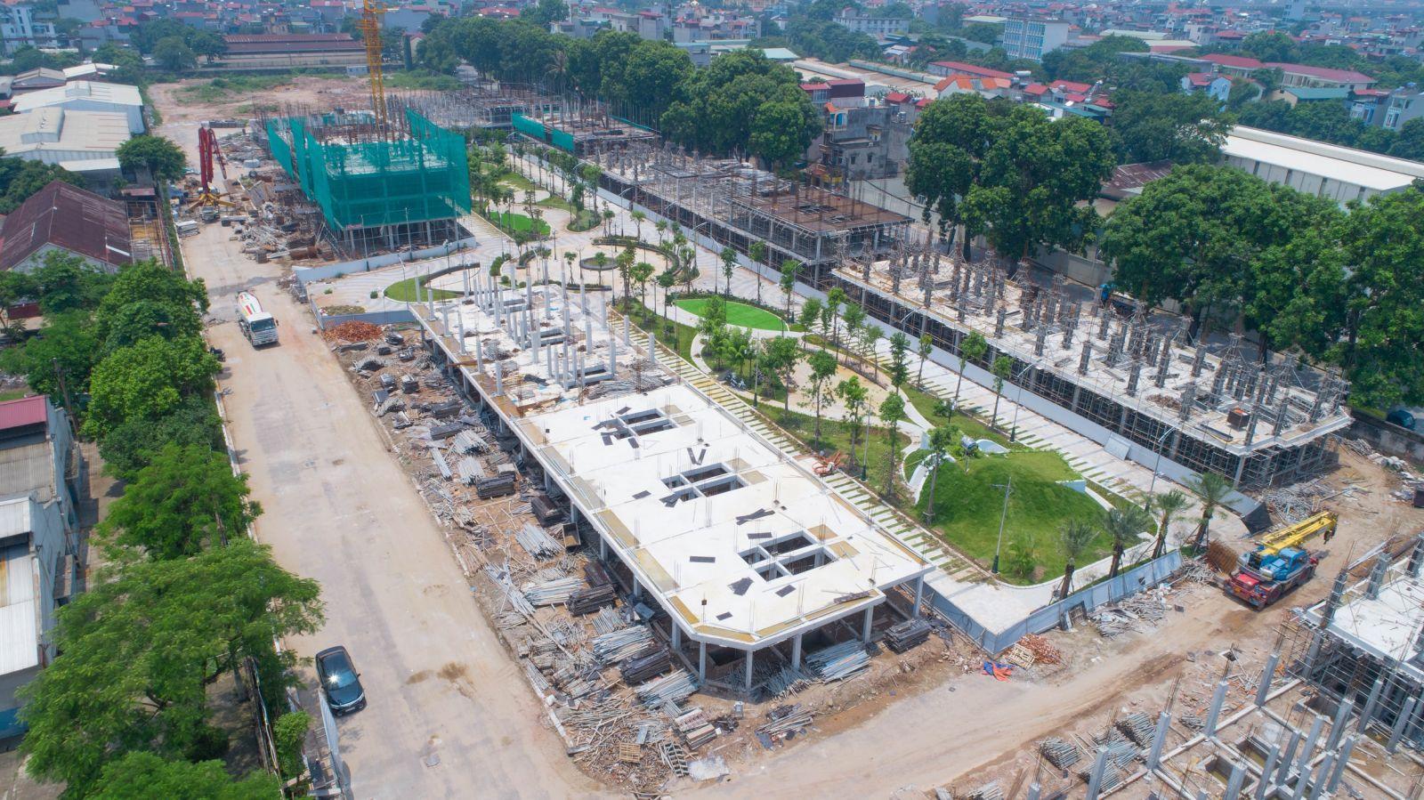 tiến độ xây dựng bình minh garden